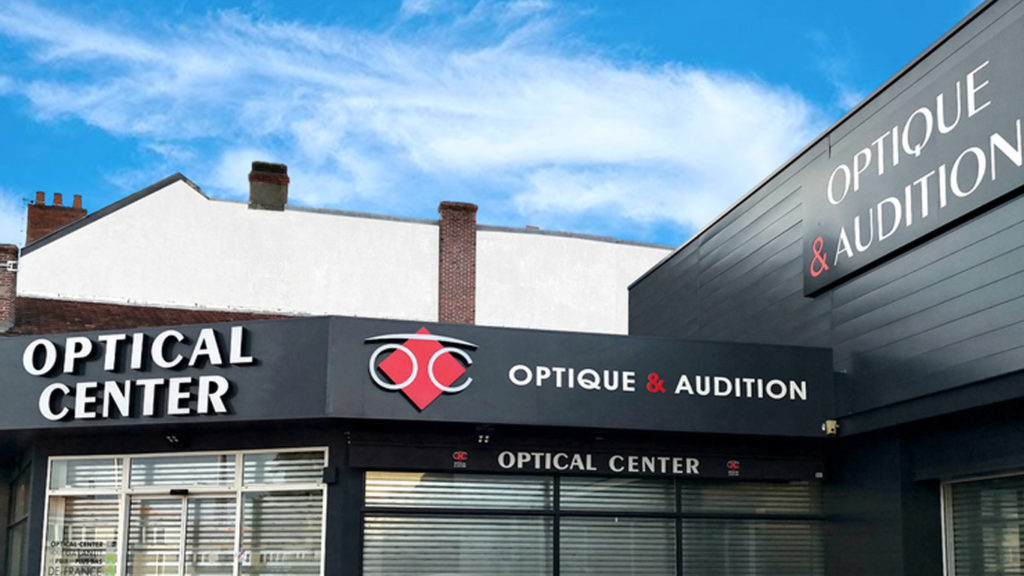 Caisson noir Optical center