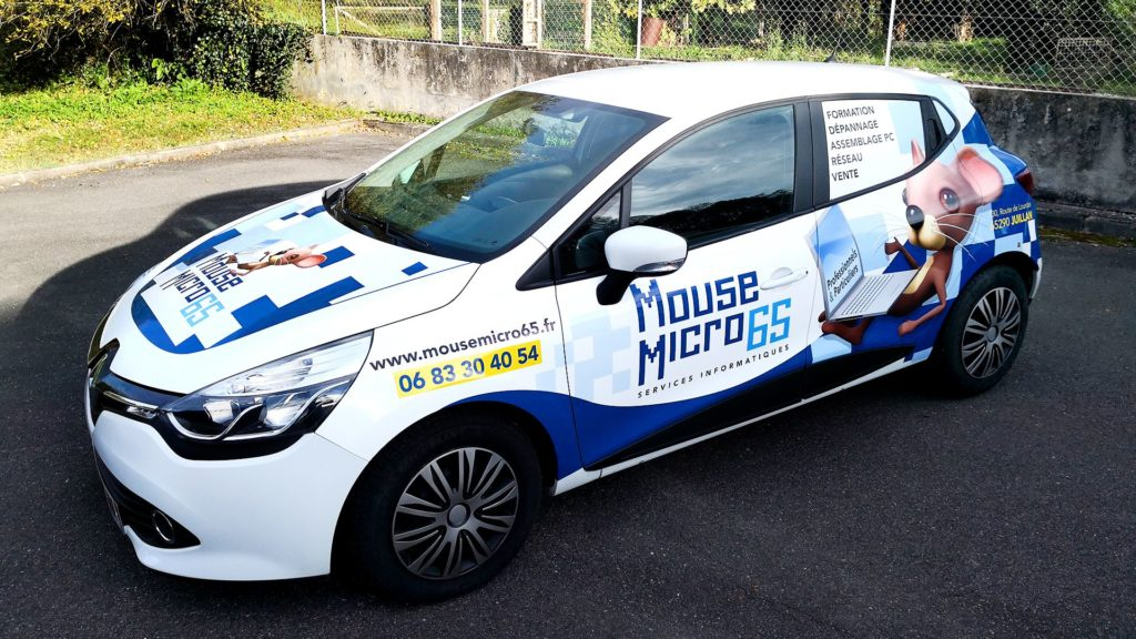 covering personnalisé voiture de société wipisign MicriMouse
