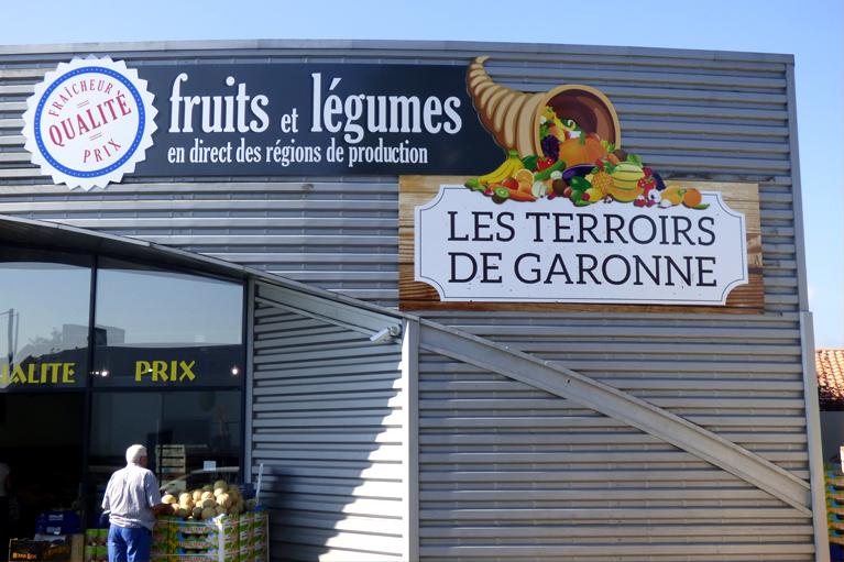 Panneau d'enseigne Terroirs de Garonne