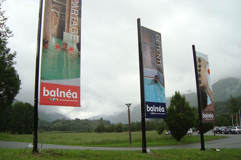 Drapeaux publicitaires Balnea