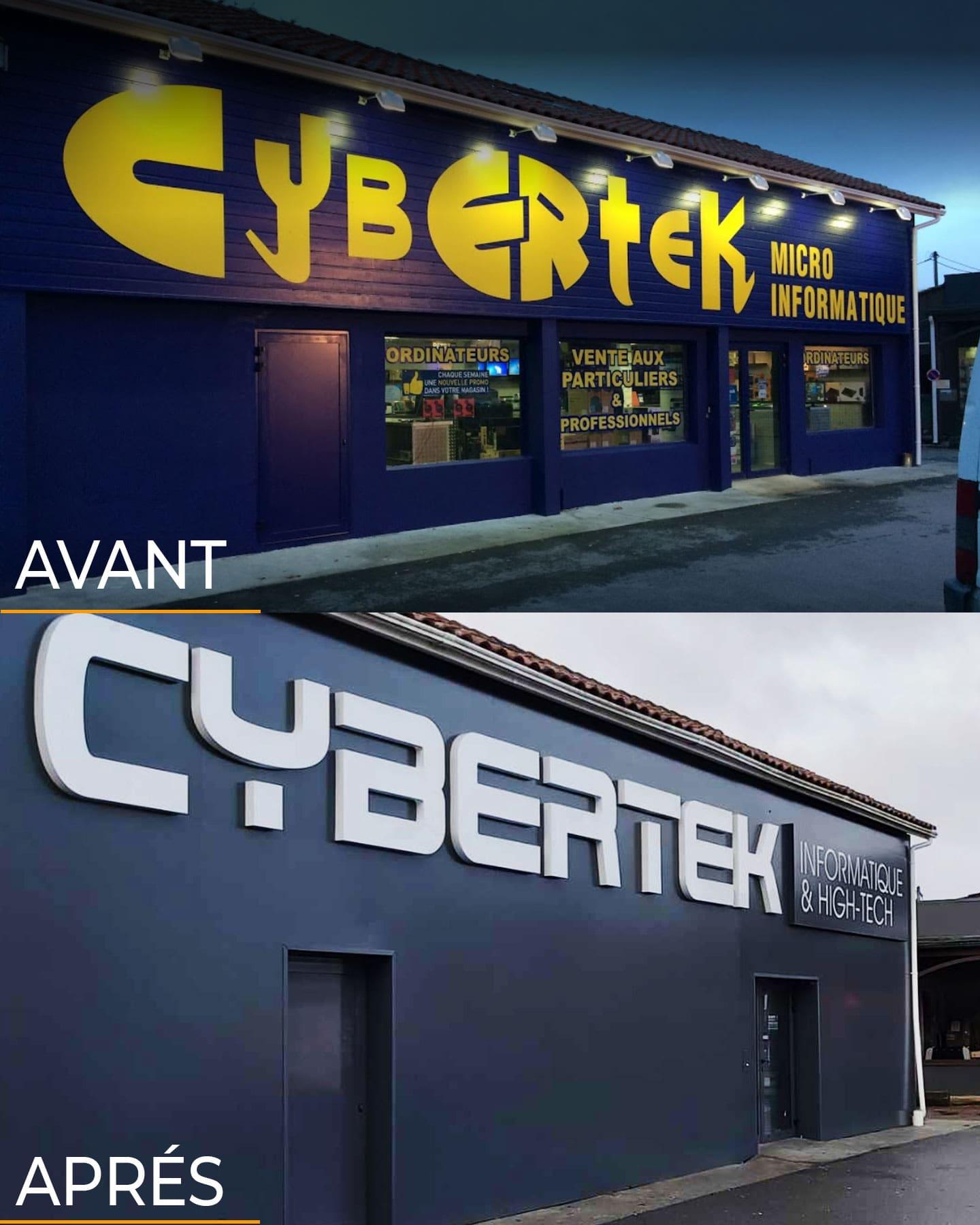 changement enseigne commerciale CYBERTECK