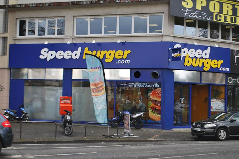 • panneau pour habillage complet de façade commerciale Speed-burger